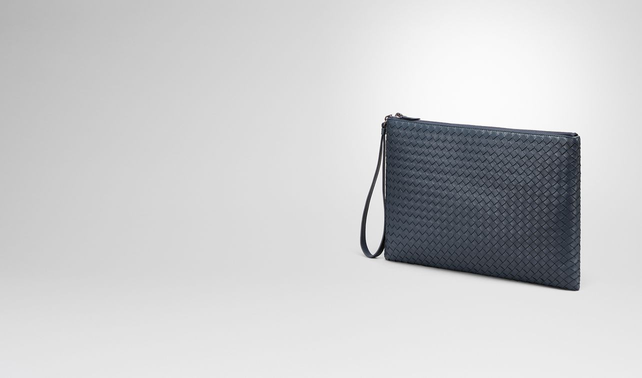 denim intrecciato nappa document case landing