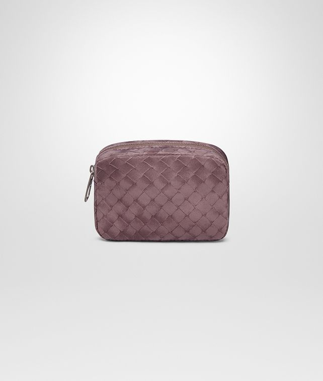 BOTTEGA VENETA SMALL COSMETIC CASE IN GLICINE INTRECCIOLUSION Other Leather Accessory Woman fp