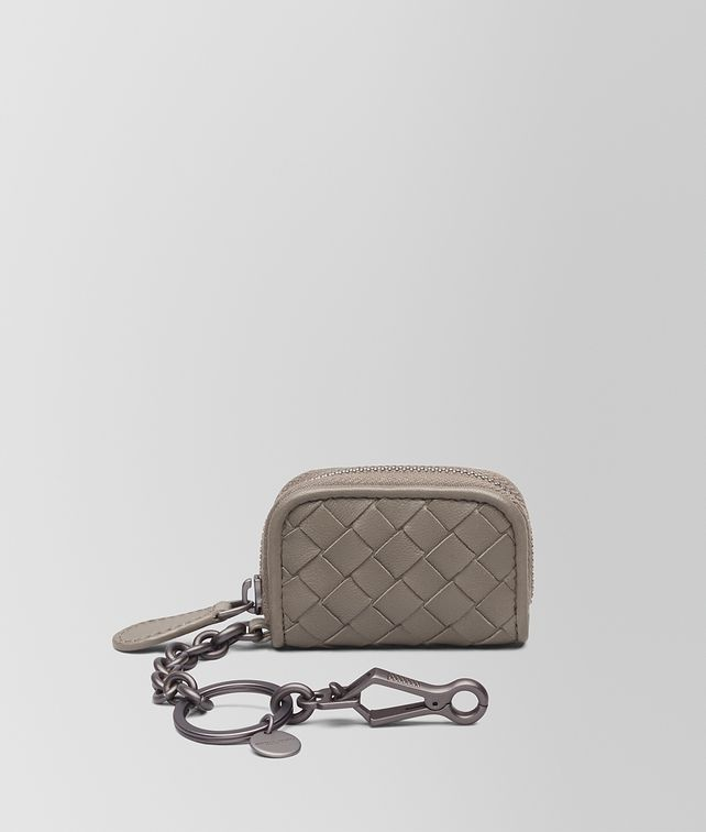 BOTTEGA VENETA KEY RING IN STEEL INTRECCIATO NAPPA Keyring or Bracelets E fp