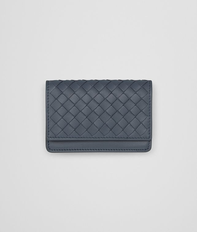 BOTTEGA VENETA CARD CASE IN KRIM INTRECCIATO NAPPA LEATHER Card Case or Coin Purse E fp