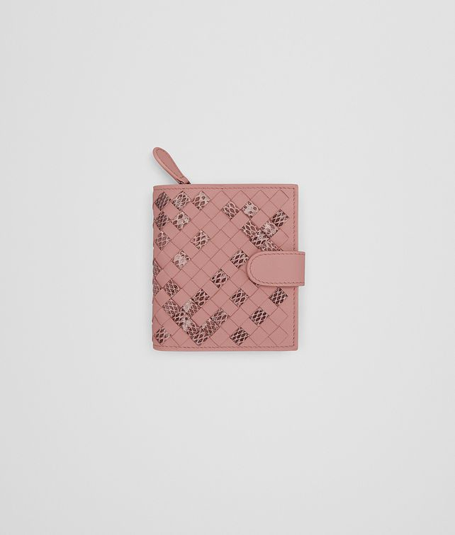 BOTTEGA VENETA MINI WALLET IN BOUDOIR INTRECCIATO NAPPA AND AYERS Mini Wallet or Coin Purse D fp
