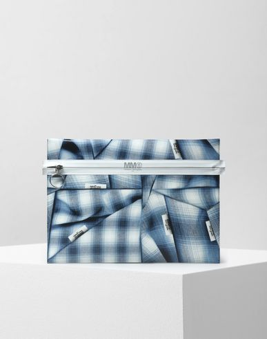 MM6 by MAISON MARGIELA Tartan print pouch Clutch D f