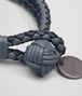 BOTTEGA VENETA BRACELET IN KRIM DENIM TOURMALINE INTRECCIATO NAPPA CLUB Keyring or Bracelets E ap