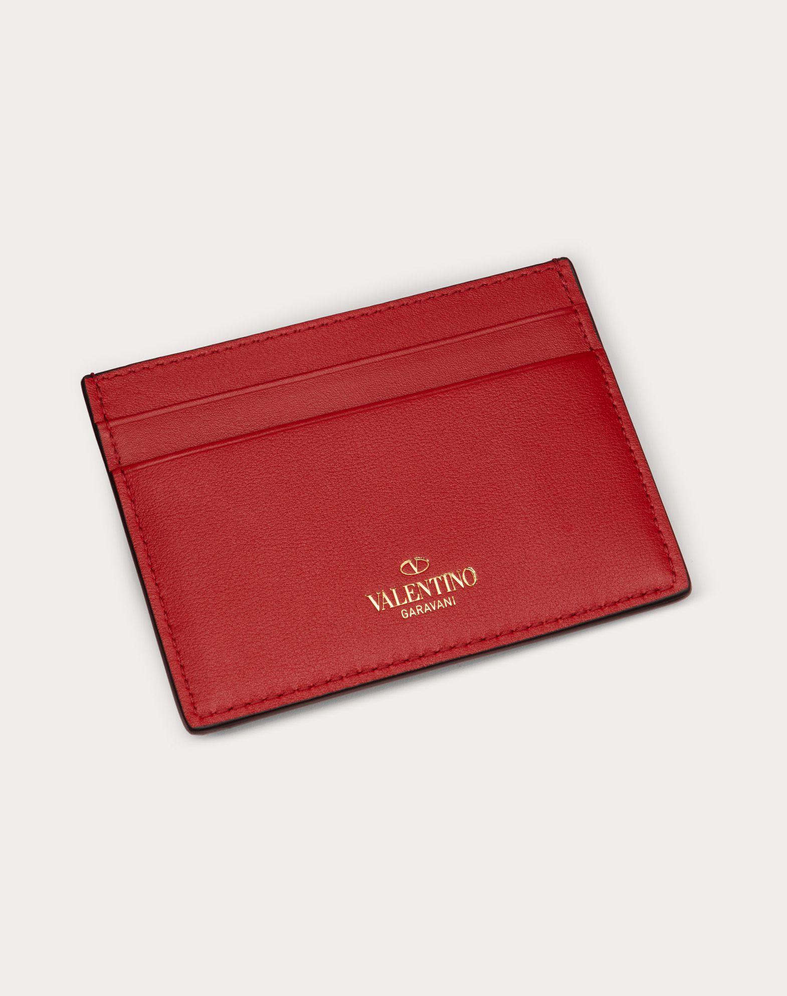 VALENTINO GARAVANI Rockstud Card Holder COIN PURSES & CARD CASES D d