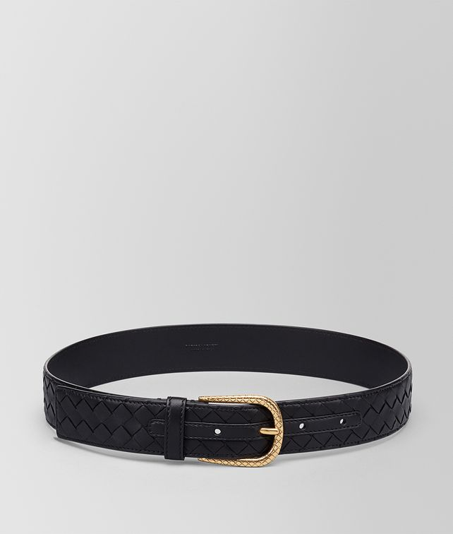 BOTTEGA VENETA BELT IN NERO INTRECCIATO NAPPA Belt Woman fp
