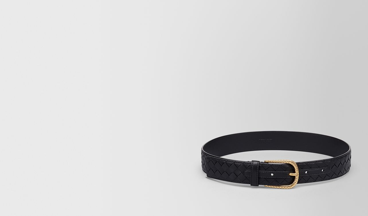 belt in nero intrecciato nappa leather landing