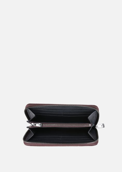 GRAINY LEATHER LONG WALLET