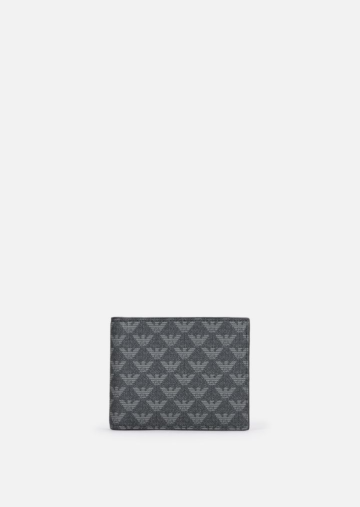 26c93d67a0 PVC WALLET WITH ALL-OVER LOGO PATTERN | Man | Emporio Armani