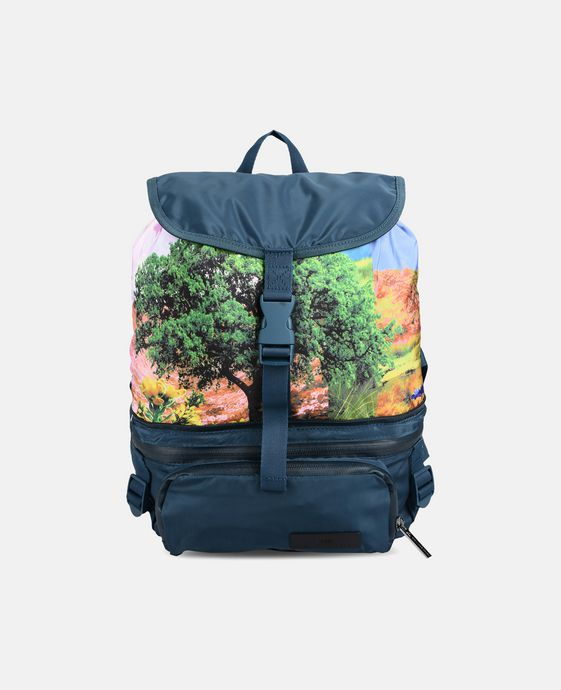 Blue Small Print Backpack