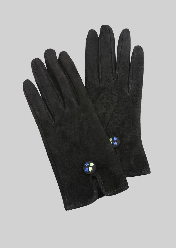 GIORGIO ARMANI LEATHER GLOVES WITH BUTTON Gloves Woman f ...