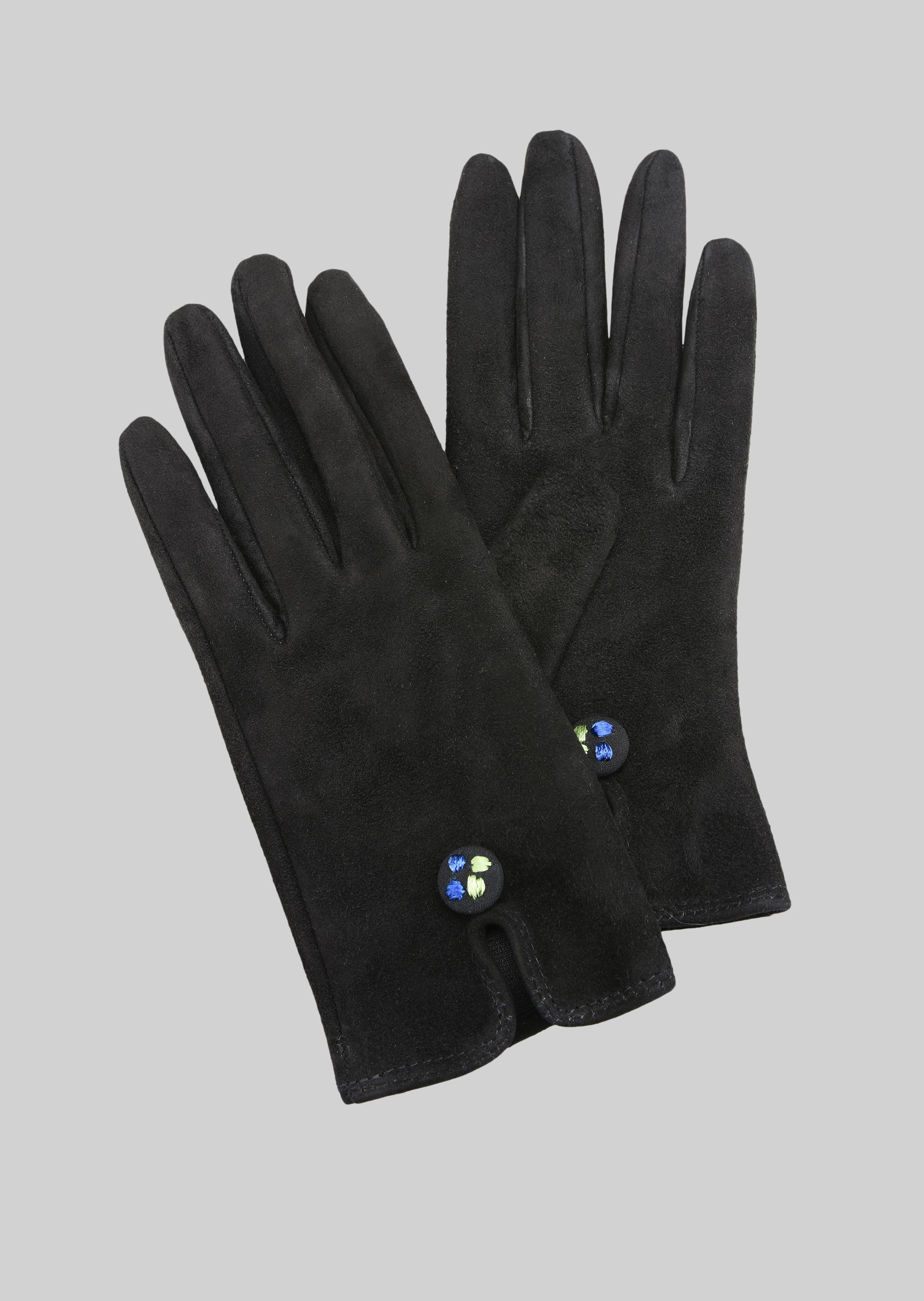 GIORGIO ARMANI LEATHER GLOVES WITH BUTTON Gloves D f
