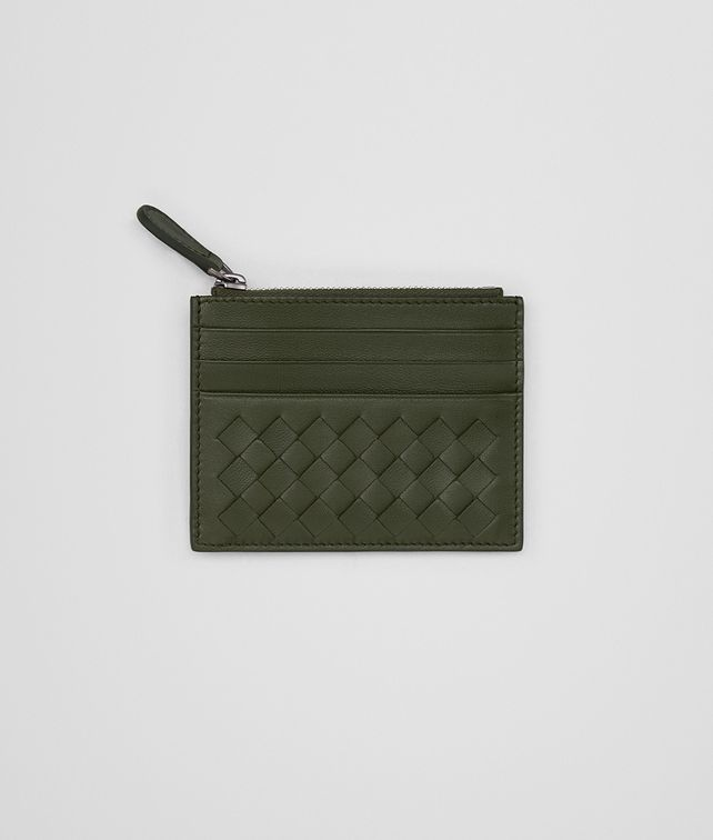 BOTTEGA VENETA CARD CASE IN MOSS INTRECCIATO NAPPA Card Case or Coin Purse E fp