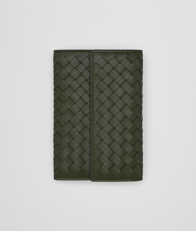BOTTEGA VENETA CONTINENTAL WALLET IN MOSS INTRECCIATO NAPPA Continental Wallet Woman fp