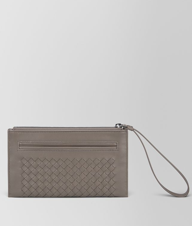 BOTTEGA VENETA DOCUMENT CASE IN STEEL INTRECCIATO NAPPA Other Leather Accessory Woman fp