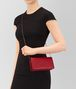 BOTTEGA VENETA CONTINENTAL WALLET IN CHINA RED INTRECCIATO NAPPA CHAIN WALLET Woman ap