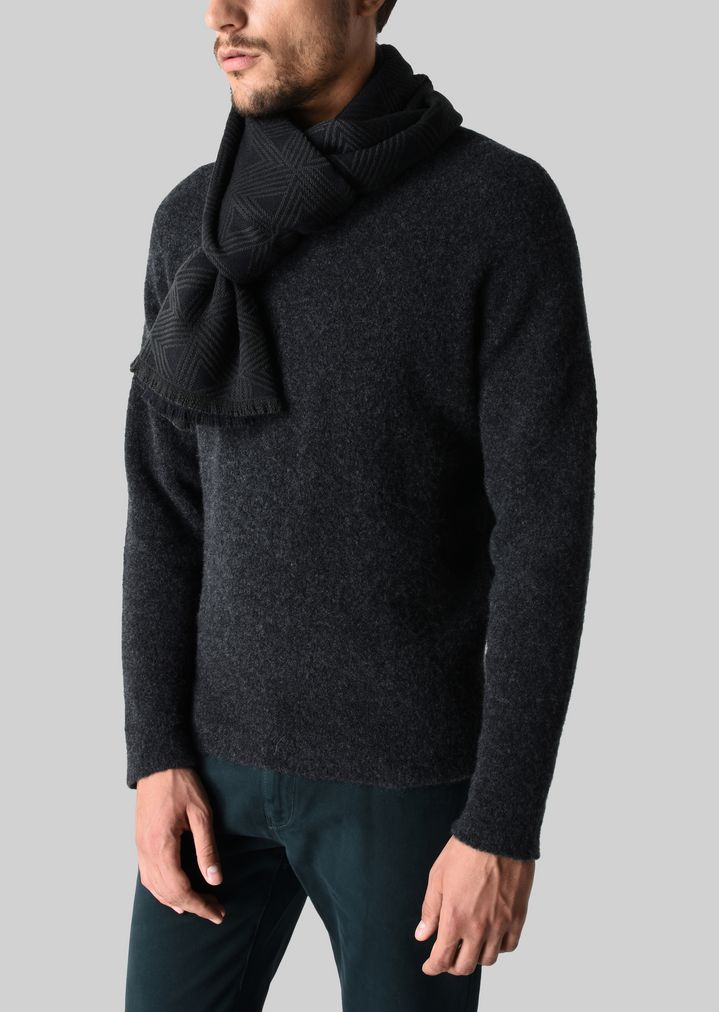 b0cefadc2b WOOL AND SILK SCARF | Man | Giorgio Armani