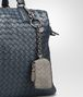 BOTTEGA VENETA KEY RING IN FUME' INTRECCIATO NAPPA Keyring or Bracelets E ap