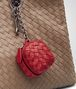BOTTEGA VENETA KEY RING IN CHINA RED INTRECCIATO NAPPA Keyring or Bracelets E ap