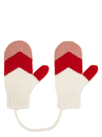 Marni  GLOVES IN PINK AND RED VIRGIN WOOL   Woman