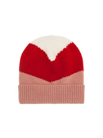 Marni CAP IN PINK AND RED VIRGIN WOOL Woman