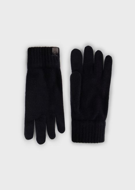 Gloves in pure cashmere knit