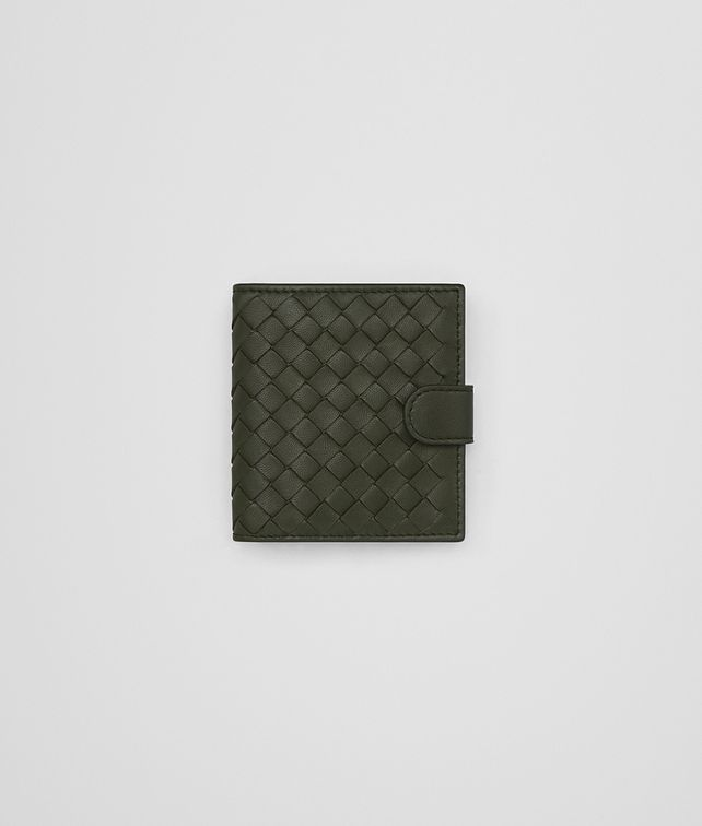 BOTTEGA VENETA MINI WALLET IN MOSS INTRECCIATO NAPPA Mini Wallet or Coin Purse D fp