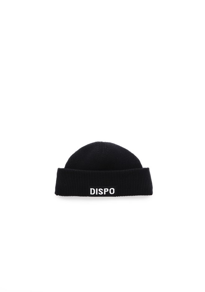 "ALEXANDER WANG scarves-hats FISHERMAN'S BEANIE WITH ""DISPO"" PATCH"