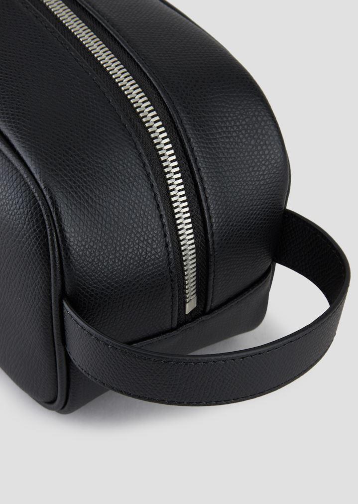 71f1e4dc2320 Home · Emporio Armani · Accessories  PRINTED AND BOARDED LEATHER WASH BAG.  EMPORIO ARMANI