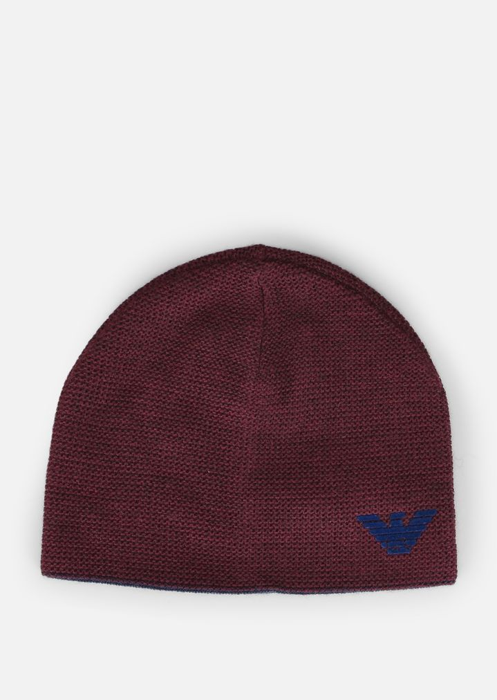 logo beanie hat - Red Emporio Armani QweXZf8J6N