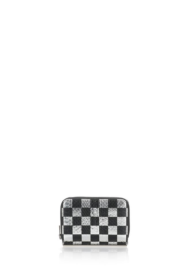ALEXANDER WANG accessoires DIME COMPACT WALLET WITH IN CHECKERBOARD ELAPHE