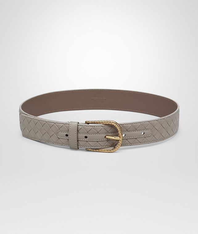 BOTTEGA VENETA BELT IN FUMÉ INTRECCIATO NAPPA LEATHER Belt D fp