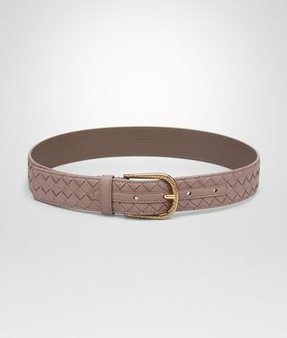 BELT IN DESERT ROSE INTRECCIATO NAPPA LEATHER
