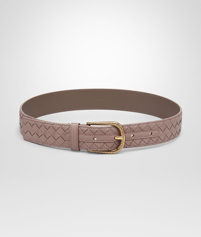 BOTTEGA VENETA BELT IN DESERT ROSE INTRECCIATO NAPPA Belt Woman fp