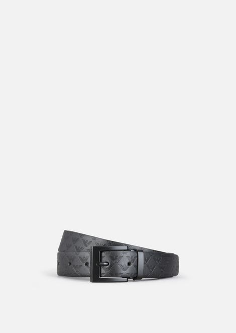 TUMBLED AND SMOOTH LEATHER REVERSIBLE BELT