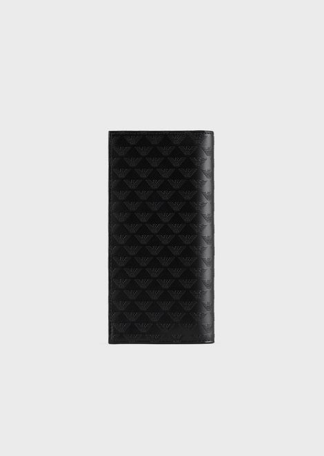 ALL-OVER PRINT LEATHER VERTICAL WALLET