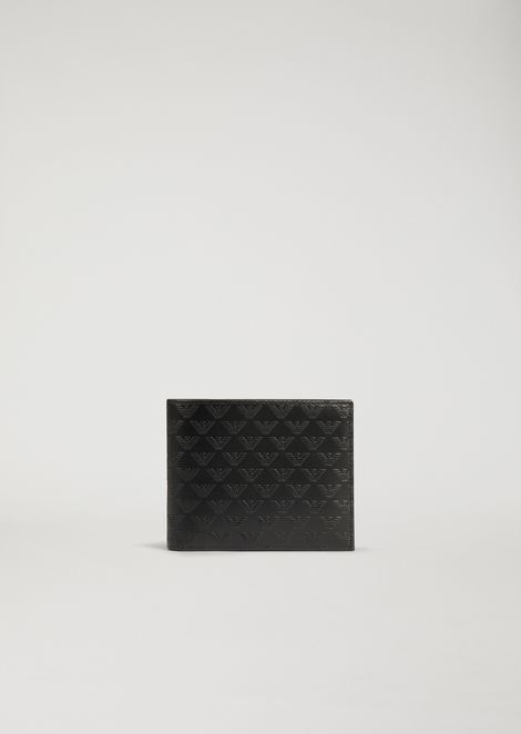 PRINTED AND BOARDED LEATHER WALLET
