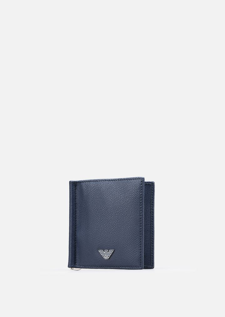 EMPORIO ARMANI PRINTED AND BOARDED LEATHER BIFOLD WALLET Wallet Man d
