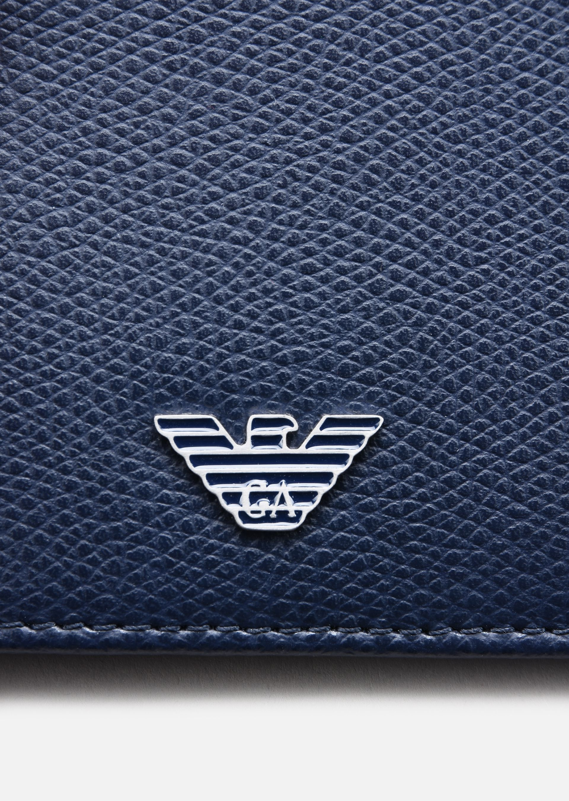 EMPORIO ARMANI PRINTED AND BOARDED LEATHER BIFOLD WALLET Wallet U a