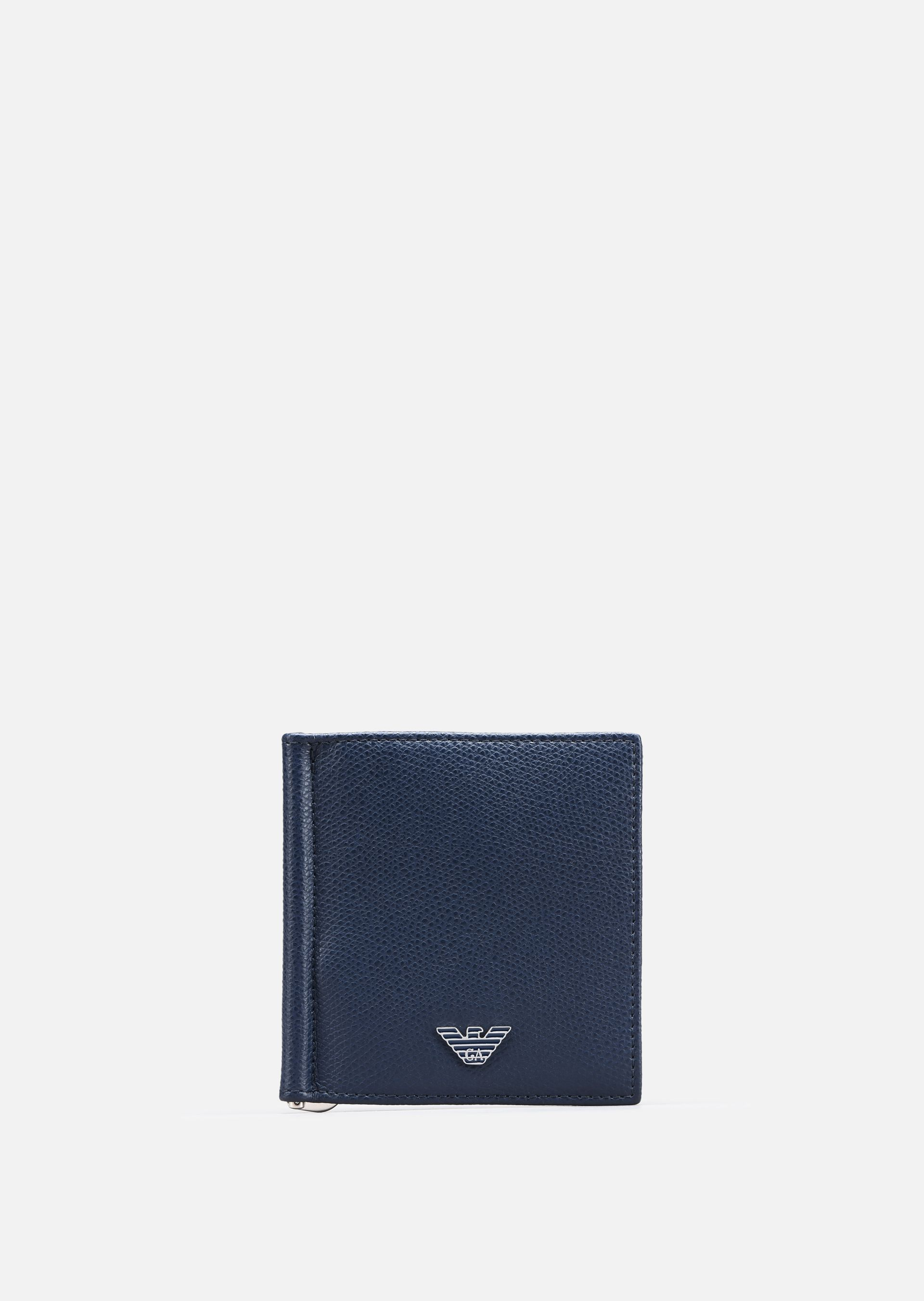 EMPORIO ARMANI PRINTED AND BOARDED LEATHER BIFOLD WALLET Wallet U f