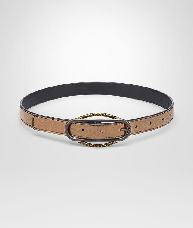 BOTTEGA VENETA ORO SCURO NAPPA BELT Belt Woman fp