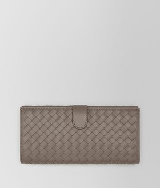 CONTINENTAL WALLET IN STEEL INTRECCIATO NAPPA LEATHER