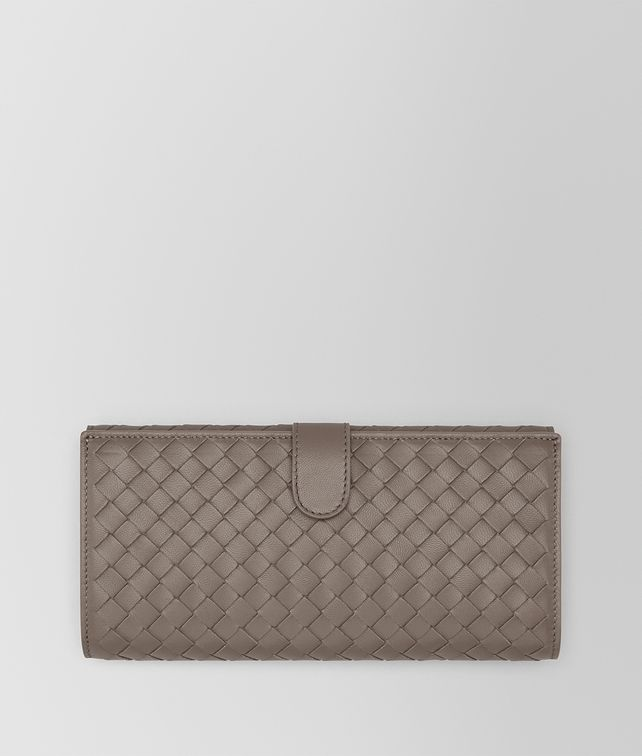 BOTTEGA VENETA CONTINENTAL WALLET IN STEEL INTRECCIATO NAPPA LEATHER Continental Wallet D fp
