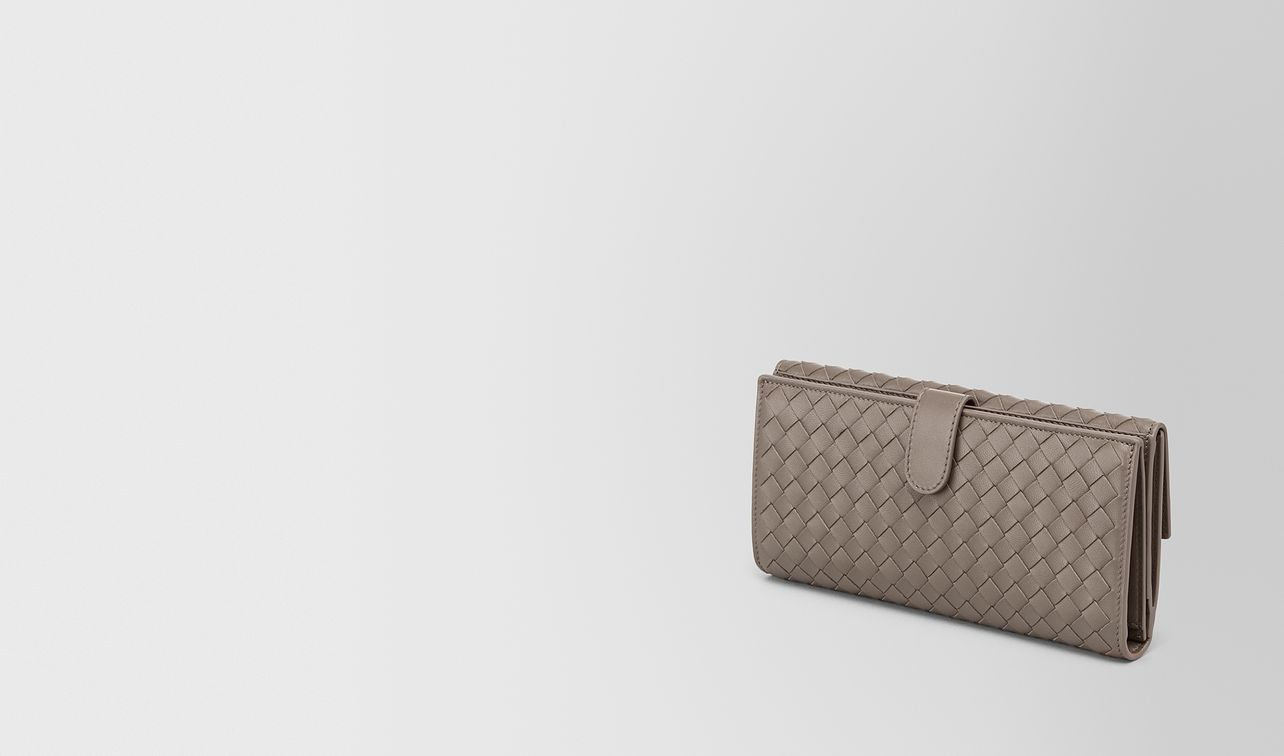 continental wallet in steel intrecciato nappa landing