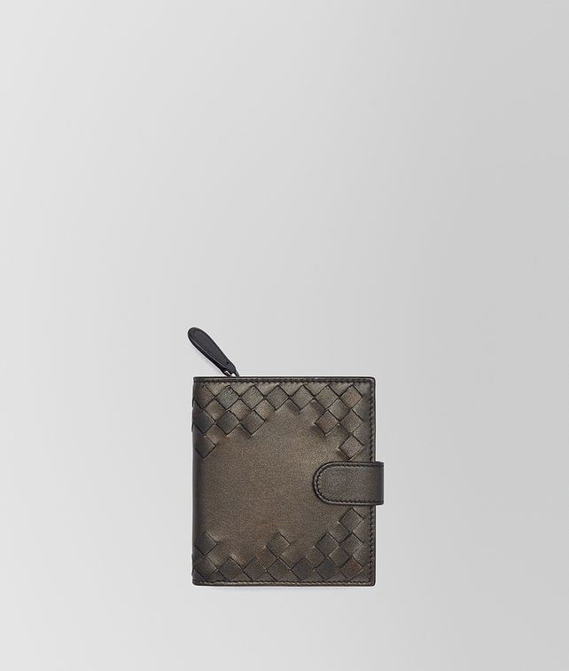 BOTTEGA VENETA MINI-PORTEMONNAIE AUS NAPPA IN DARK BRONZE Mini-Portemonnaie Damen fp