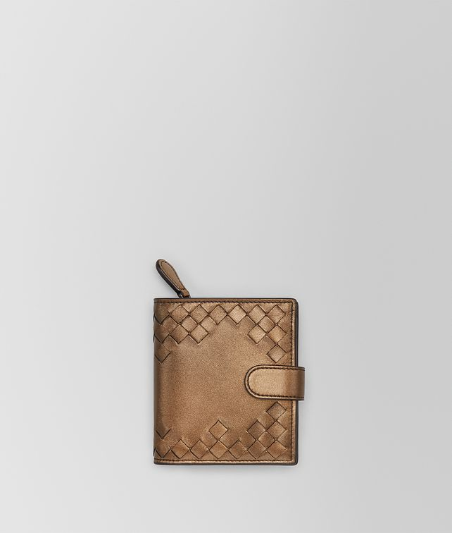 BOTTEGA VENETA ORO SCURO NAPPA MINI WALLET Mini Wallet or Coin Purse D fp