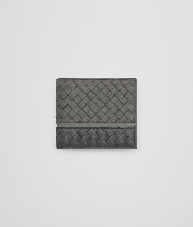 BOTTEGA VENETA BI-FOLD WALLET IN LIGHT GREY ARDOISE ARTICHOKE INTRECCIATO NAPPA LEATHER Bi-fold Wallet Man fp