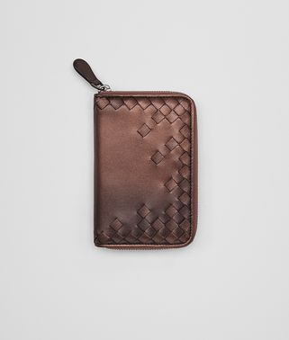 DARK COPPER NAPPA ZIP-AROUND WALLET
