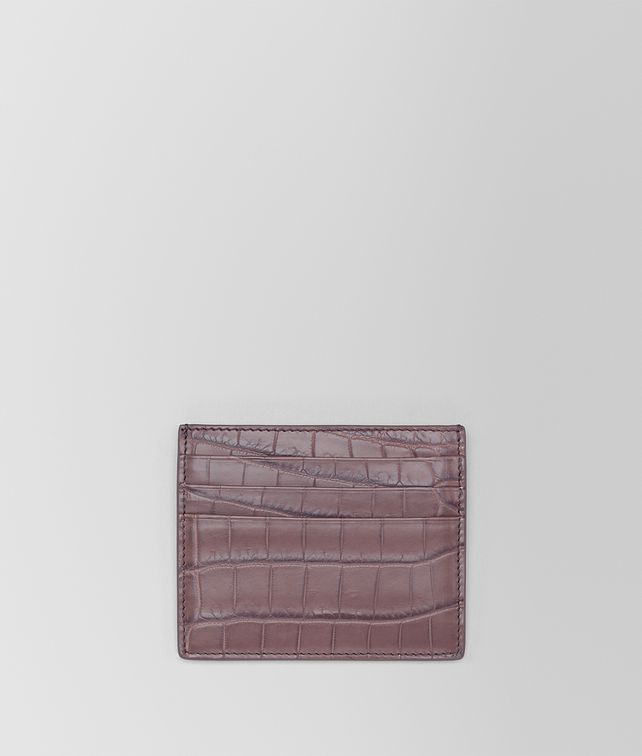 BOTTEGA VENETA GLICINE CROCODILE CARD CASE Card Case or Coin Purse E fp