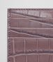 BOTTEGA VENETA GLICINE CROCODILE CARD CASE Card Case or Coin Purse E dp