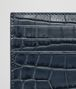 BOTTEGA VENETA DENIM CROCODILE CARD CASE Card Case or Coin Purse E dp